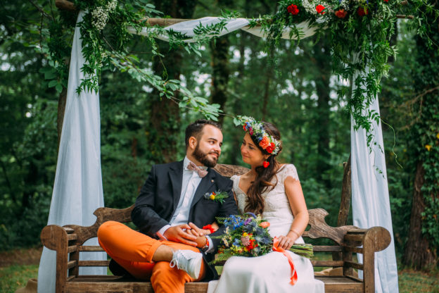 Un mariage coloré au domaine du Castelet